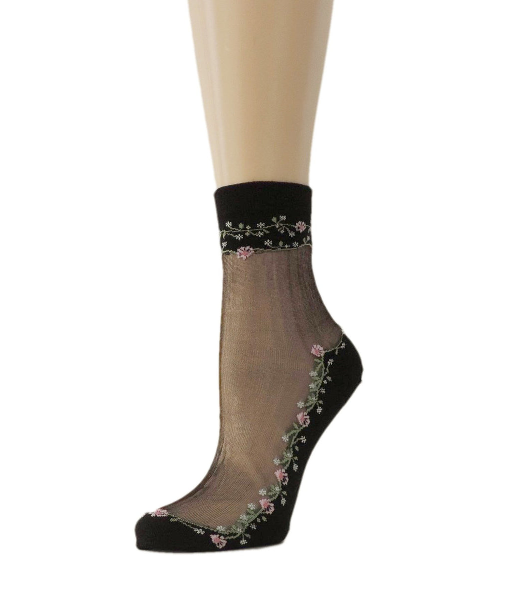 Spring Flowers Sheer Socks - Global Trendz Fashion®