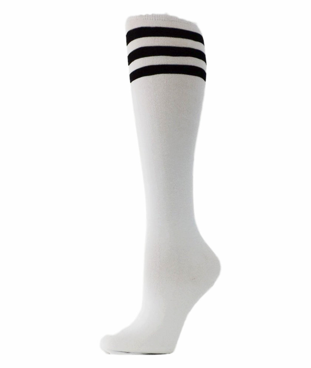 Black Striped Knee High Socks - Global Trendz Fashion®