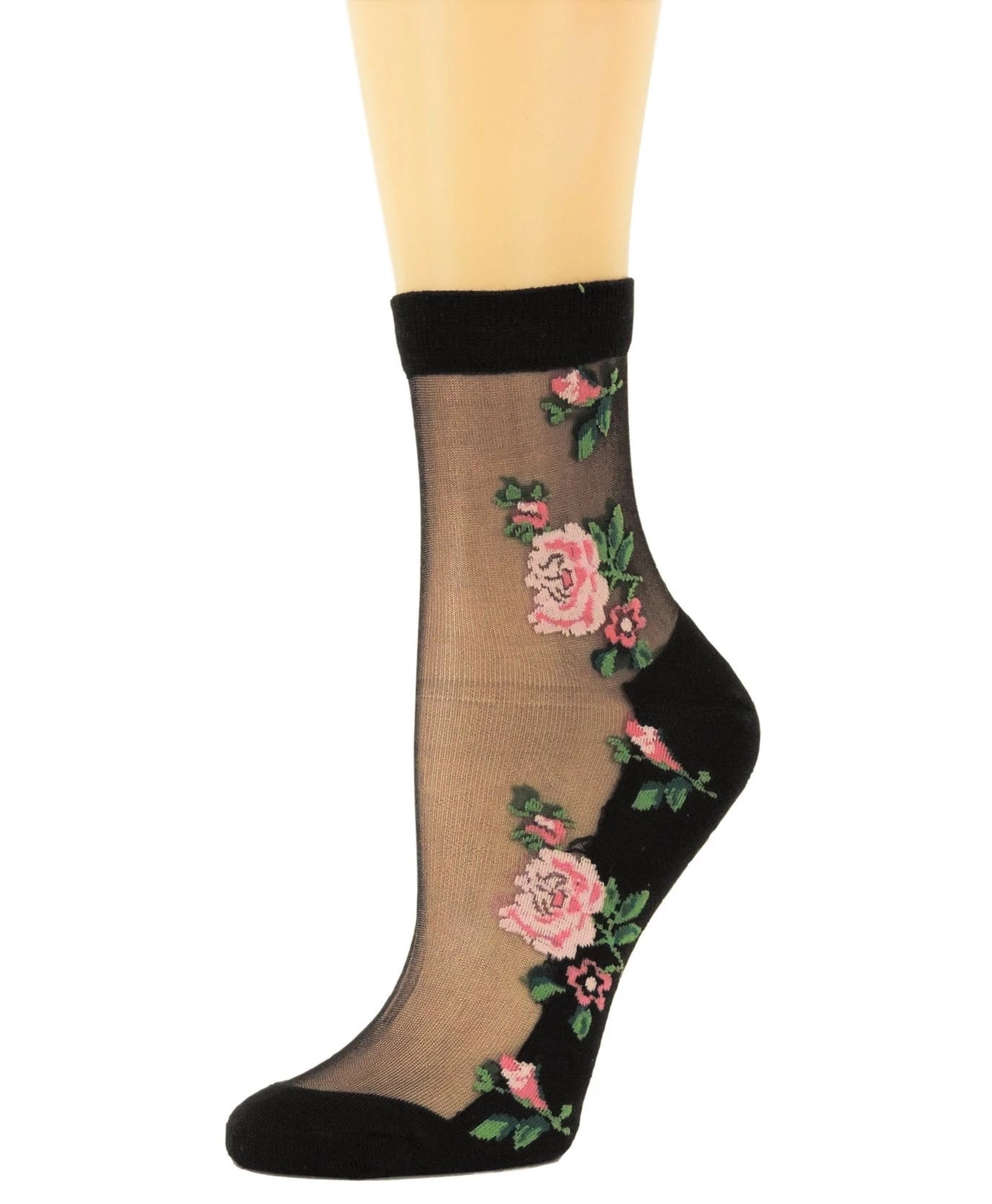 Two Peach Roses Sheer Socks - Global Trendz Fashion®