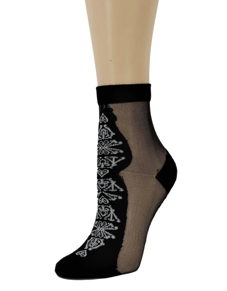 Supreme Black Sheer Socks - Global Trendz Fashion®