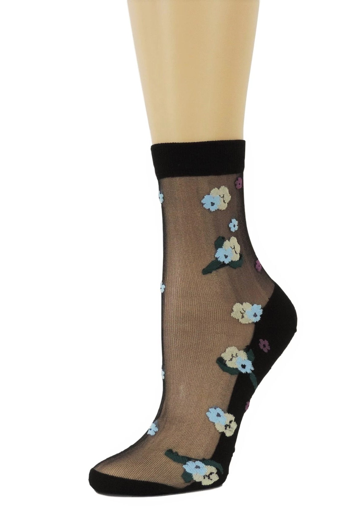 Dazzling Flowers Sheer Socks - Global Trendz Fashion®