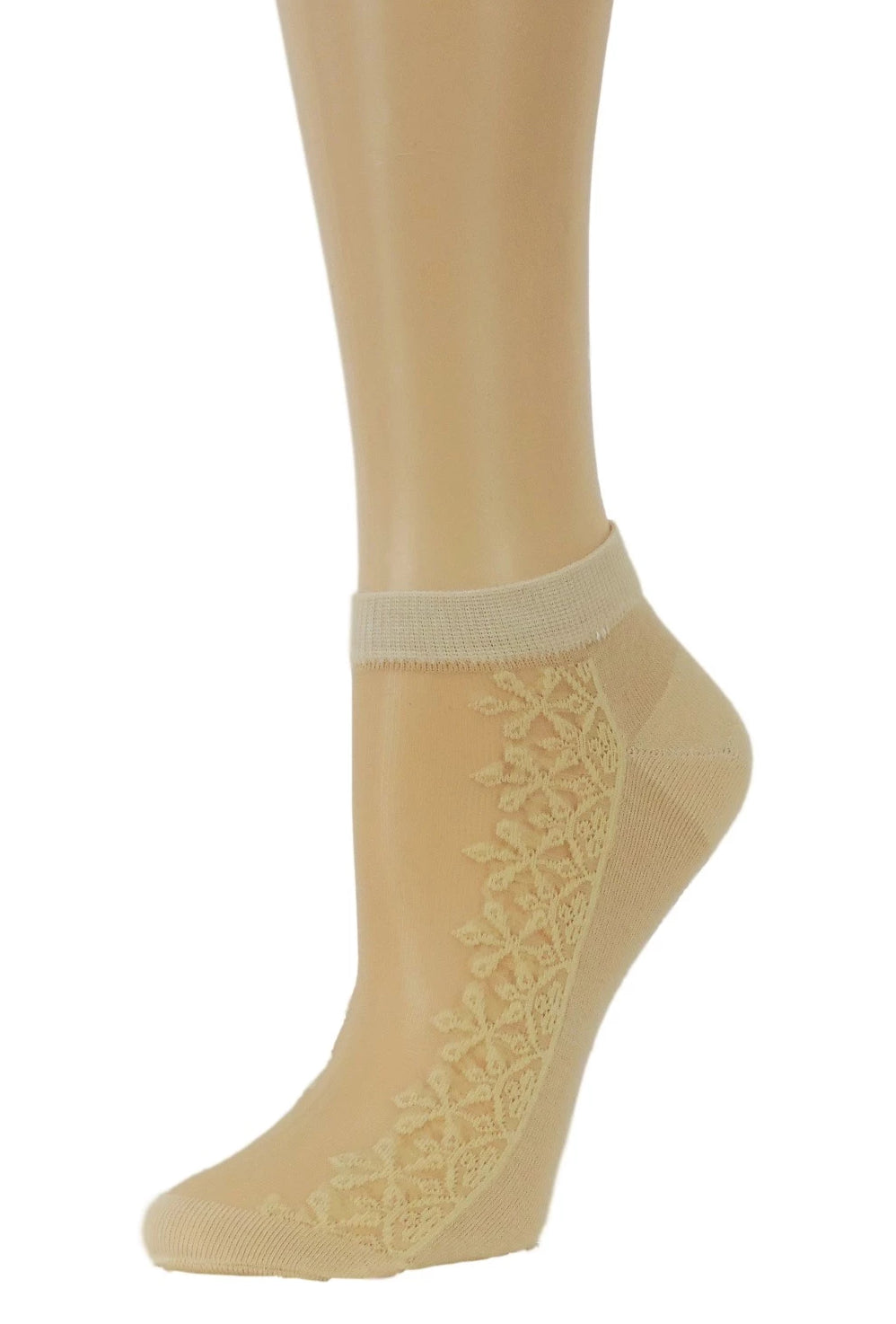 Sequence Floral Ankle Sheer Socks