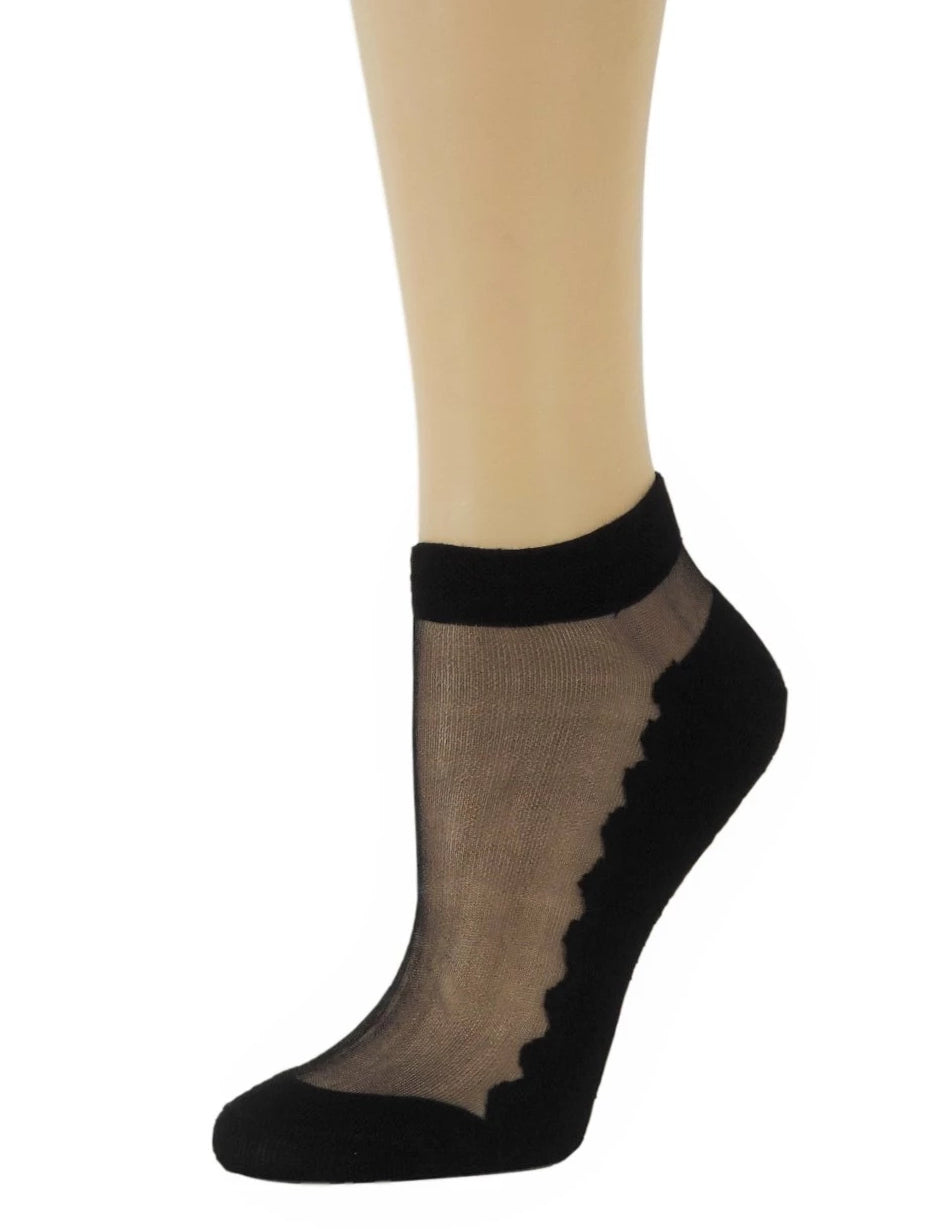 Elegant Black Ankle Sheer Socks - Global Trendz Fashion®