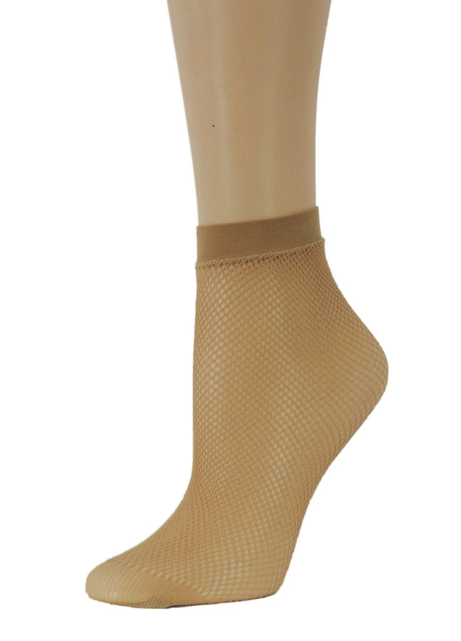 Classy Beige Fishnet Socks - Global Trendz Fashion®