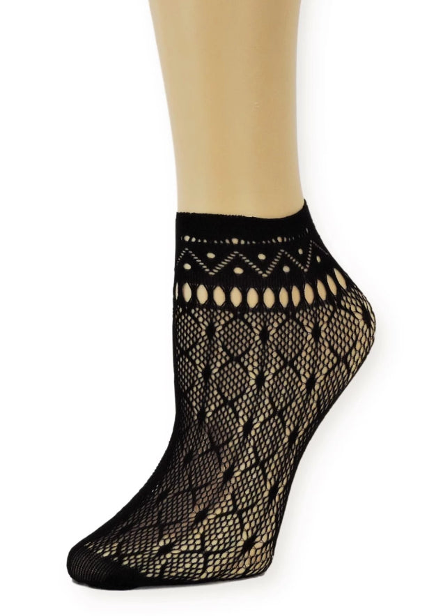 Black Night Ankle Mesh Socks - Global Trendz Fashion®