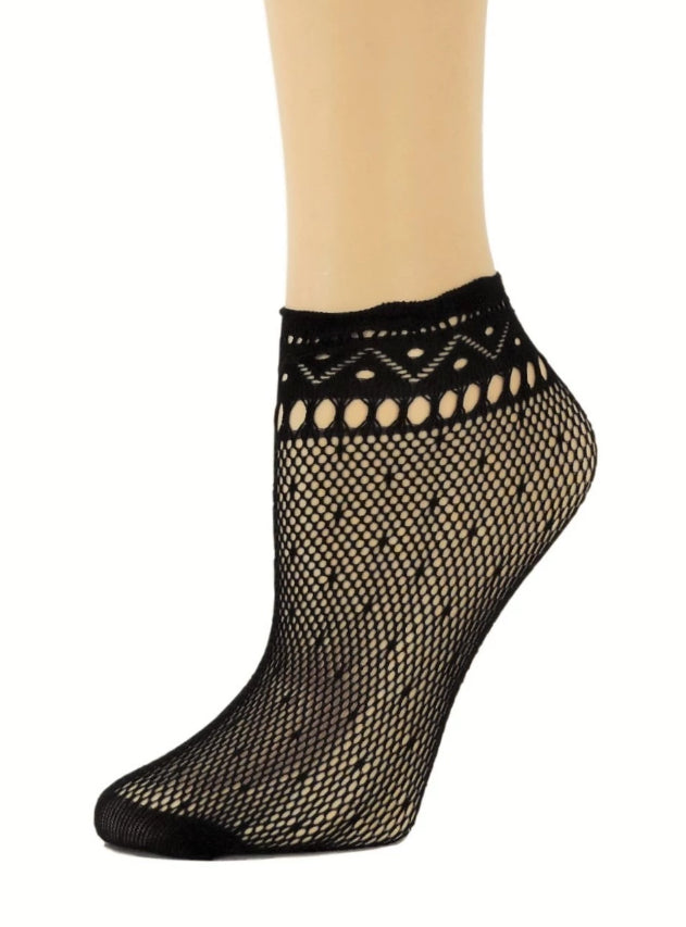 Soft Black Ankle Mesh Socks - Global Trendz Fashion®