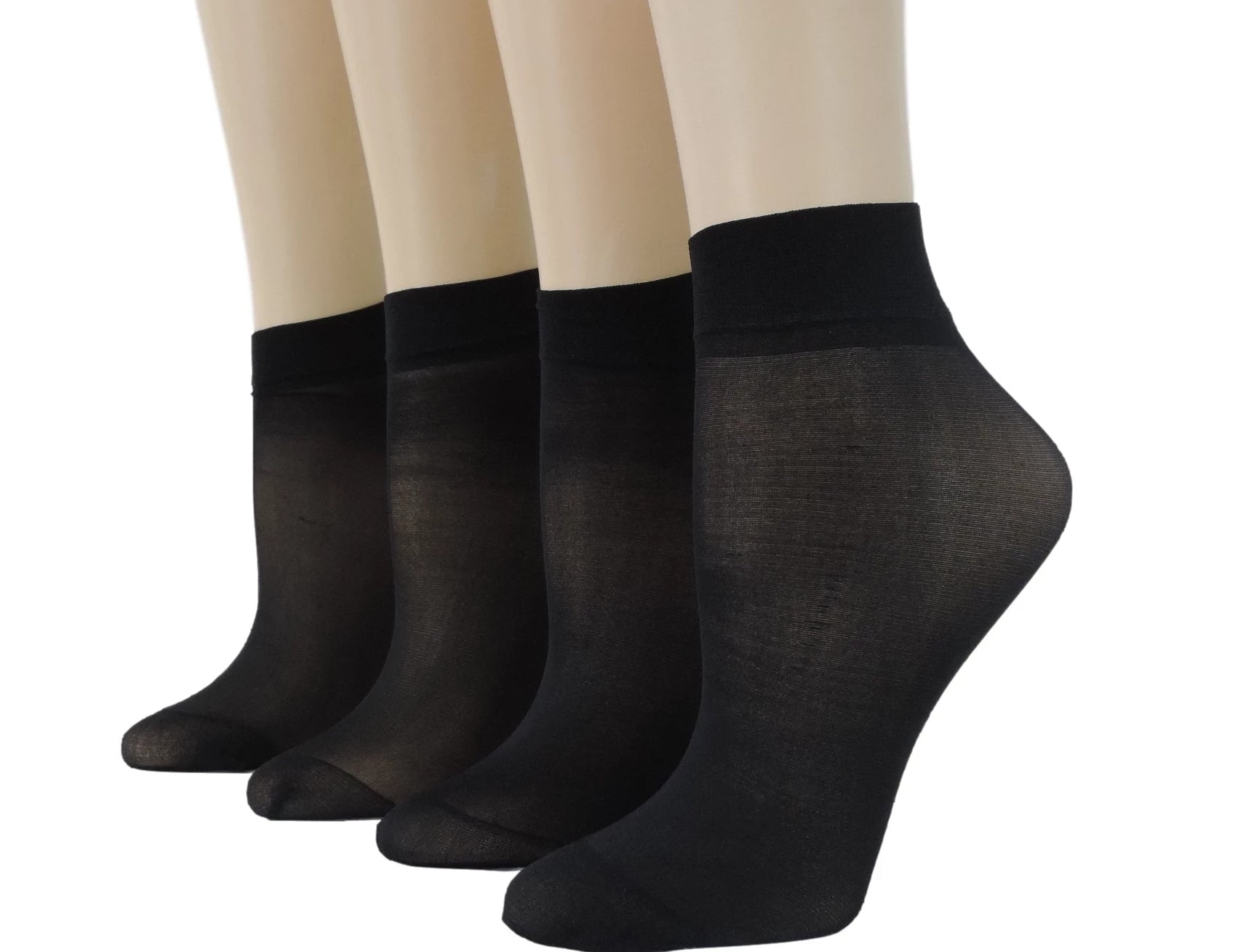 Cute Black Nylon Socks (Pack of 10 pairs) - Global Trendz Fashion®