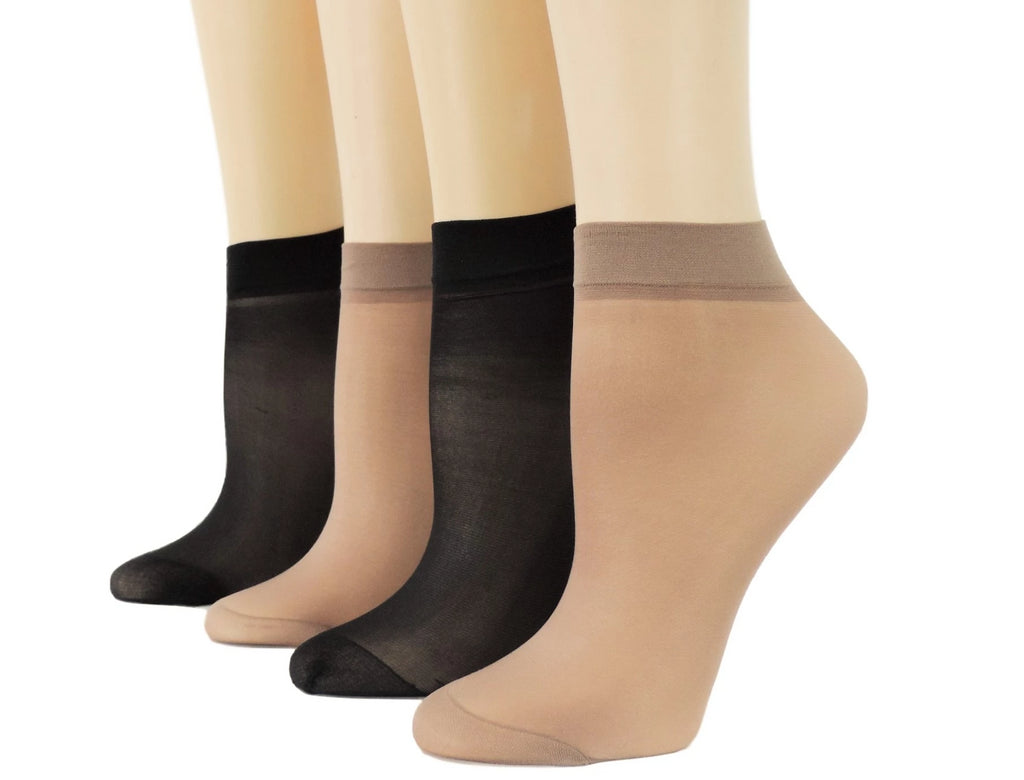 Brown/Black Nylon Socks (Pack of 10 pairs) - Global Trendz Fashion®