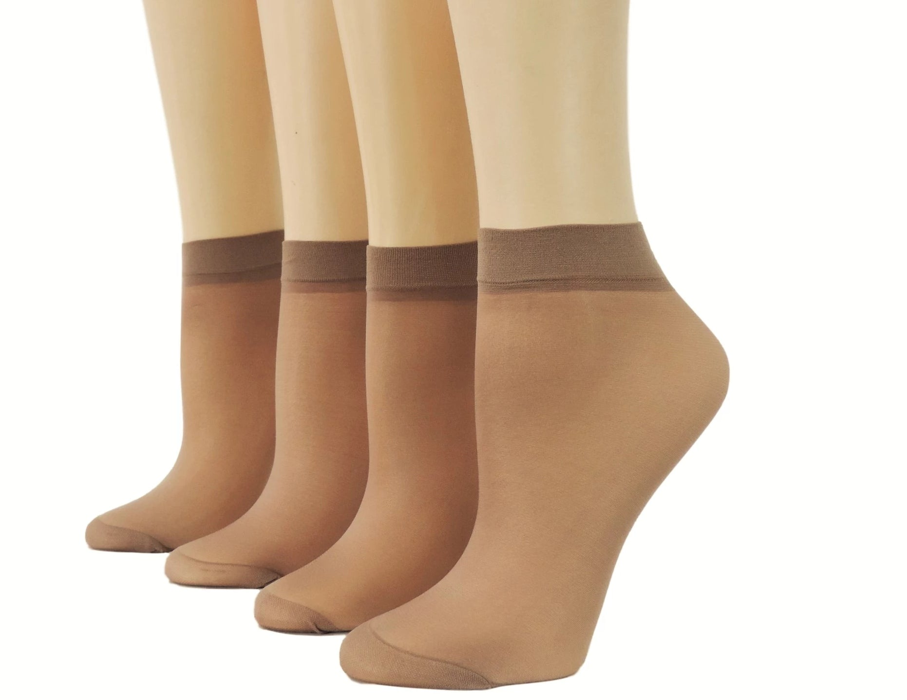 Cute Brown Nylon Socks (Pack of 10 pairs) - Global Trendz Fashion®