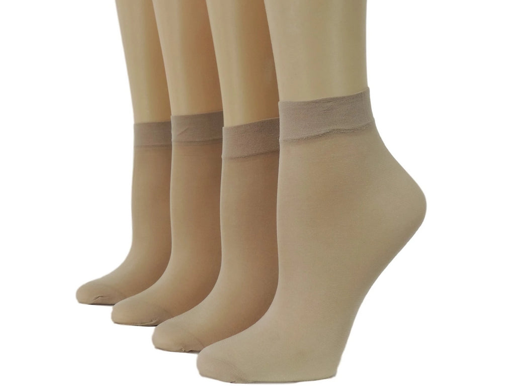 Super Beige Nylon Socks (Pack of 10 pairs) - Global Trendz Fashion®
