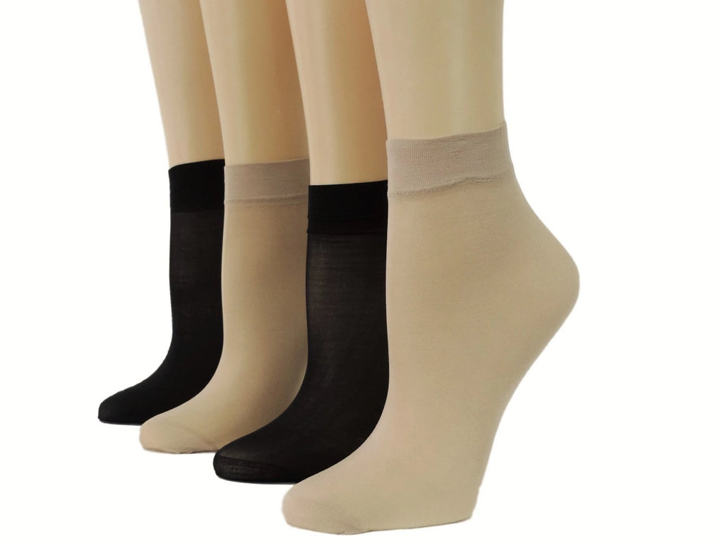 Beige/Black Nylon Socks (Pack of 10 pairs) - Global Trendz Fashion®