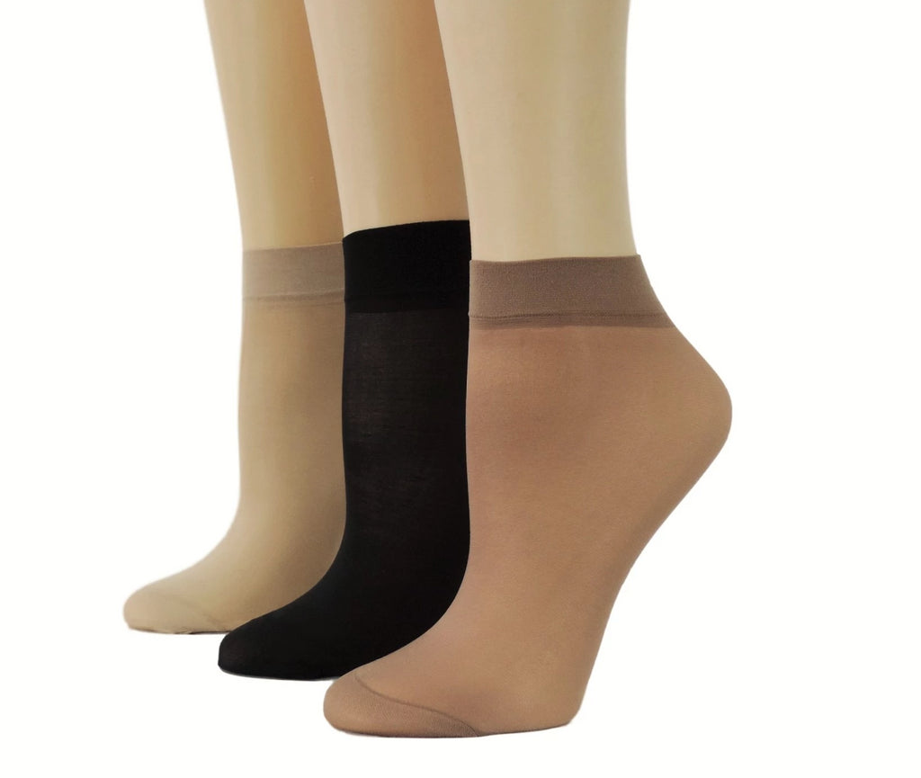 Brown/Beige/Black Nylon Socks (Pack of 10 pairs) - Global Trendz Fashion®