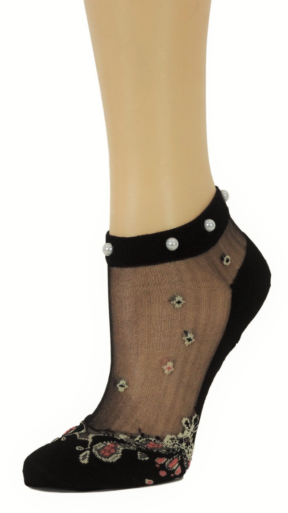 Glorious Chandelier Ankle Custom Sheer Socks with beads - Global Trendz Fashion®