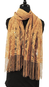 Handmade Rich Golden Net Scarf - Global Trendz Fashion®