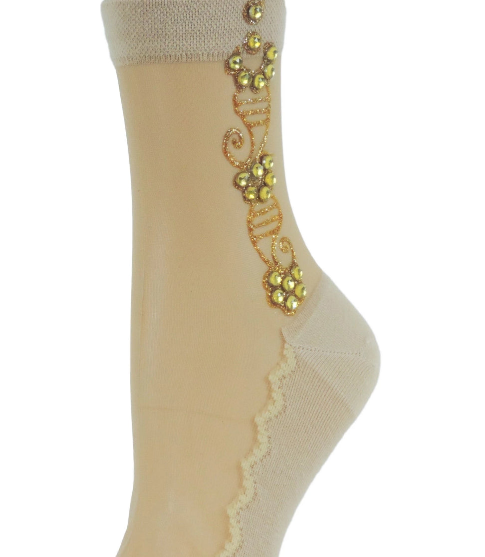 Charming Henna Sheer Socks - Global Trendz Fashion®