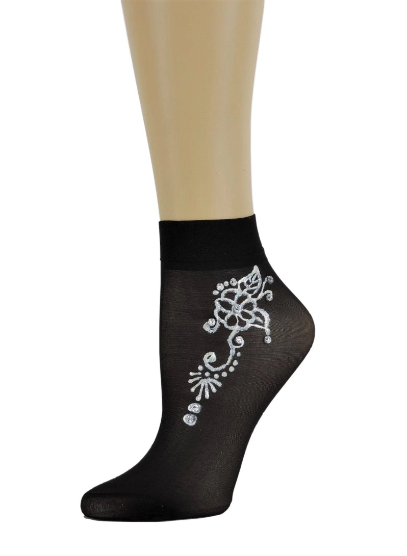 Moon Shine Henna Sheer Socks - Global Trendz Fashion®