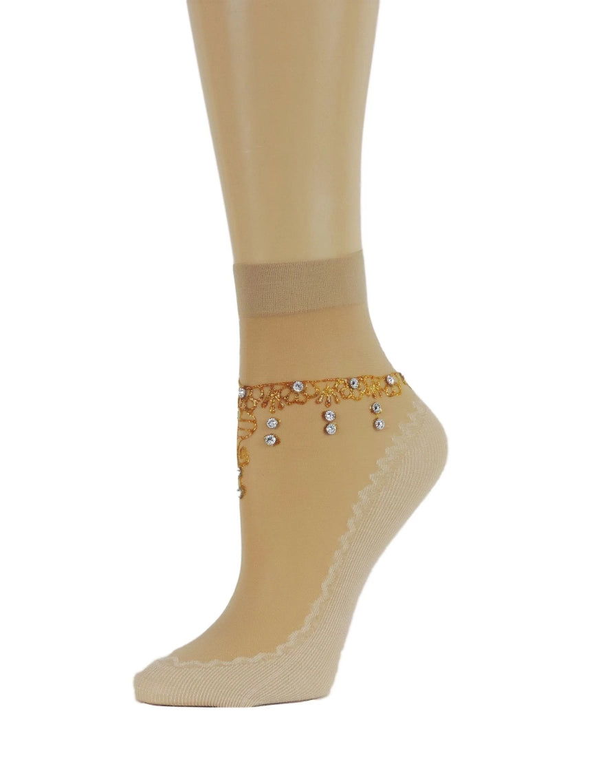 Amber Henna Sheer Socks - Global Trendz Fashion®