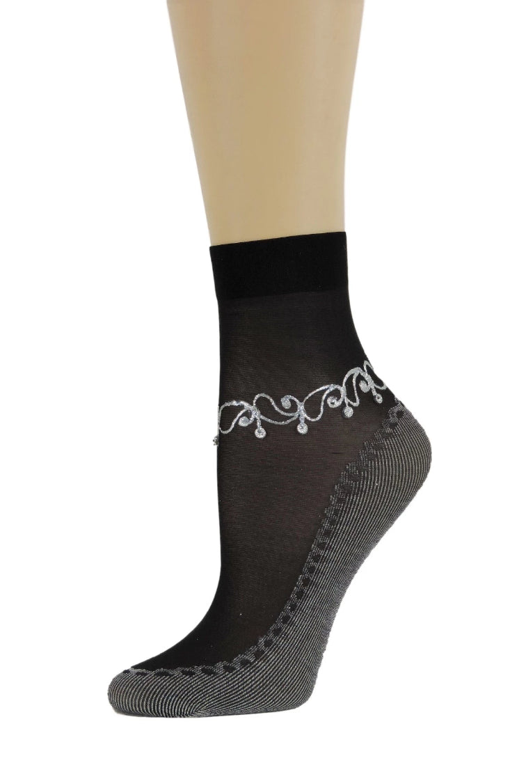 Achromatic Henna Sheer Socks - Global Trendz Fashion®