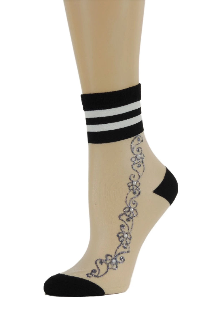Dire Henna Sheer Socks - Global Trendz Fashion®