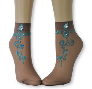 Elegant Henna Sheer Socks - Global Trendz Fashion®