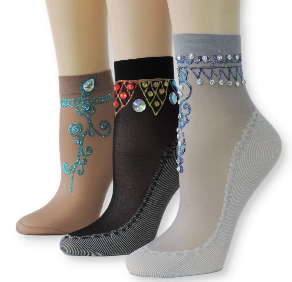 Henna Sheer Socks (Pack of 3 Pairs) - Global Trendz Fashion®
