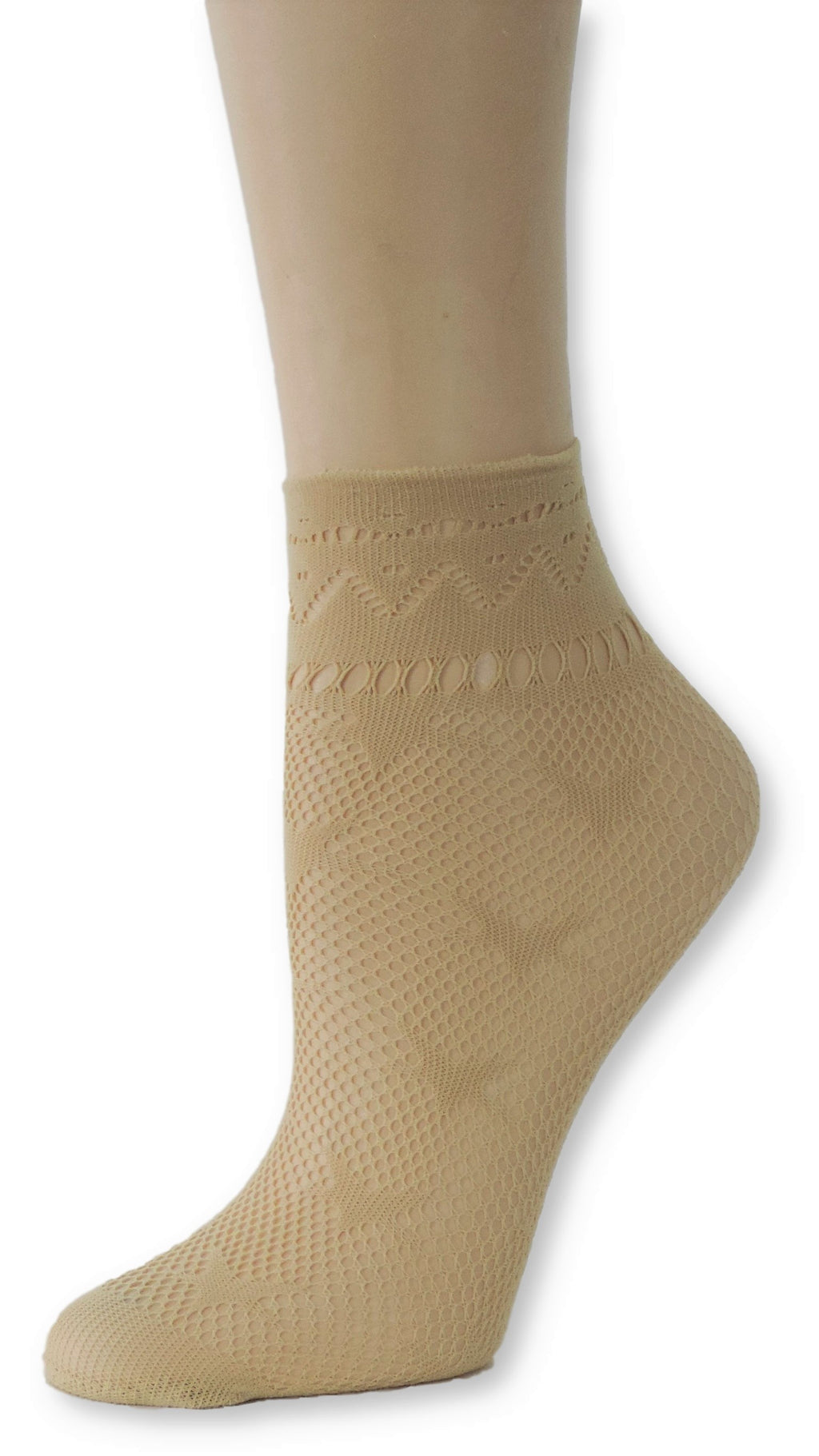 Beige Star Ankle Mesh Socks - Global Trendz Fashion®