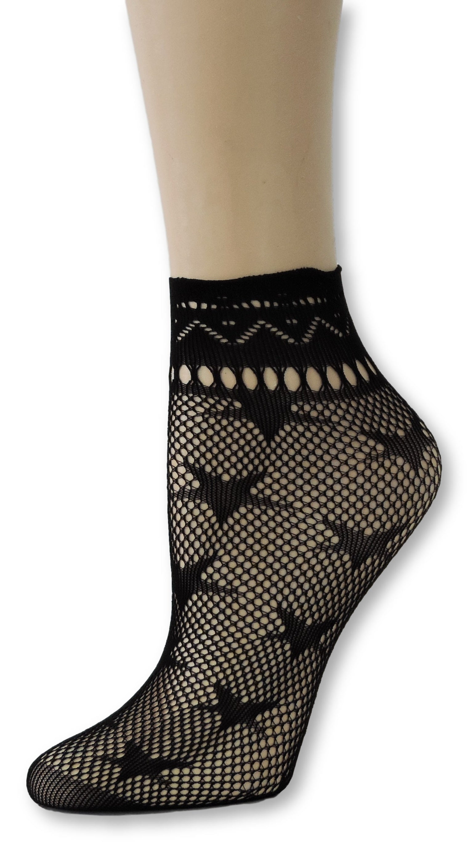 Star Ankle Mesh Socks