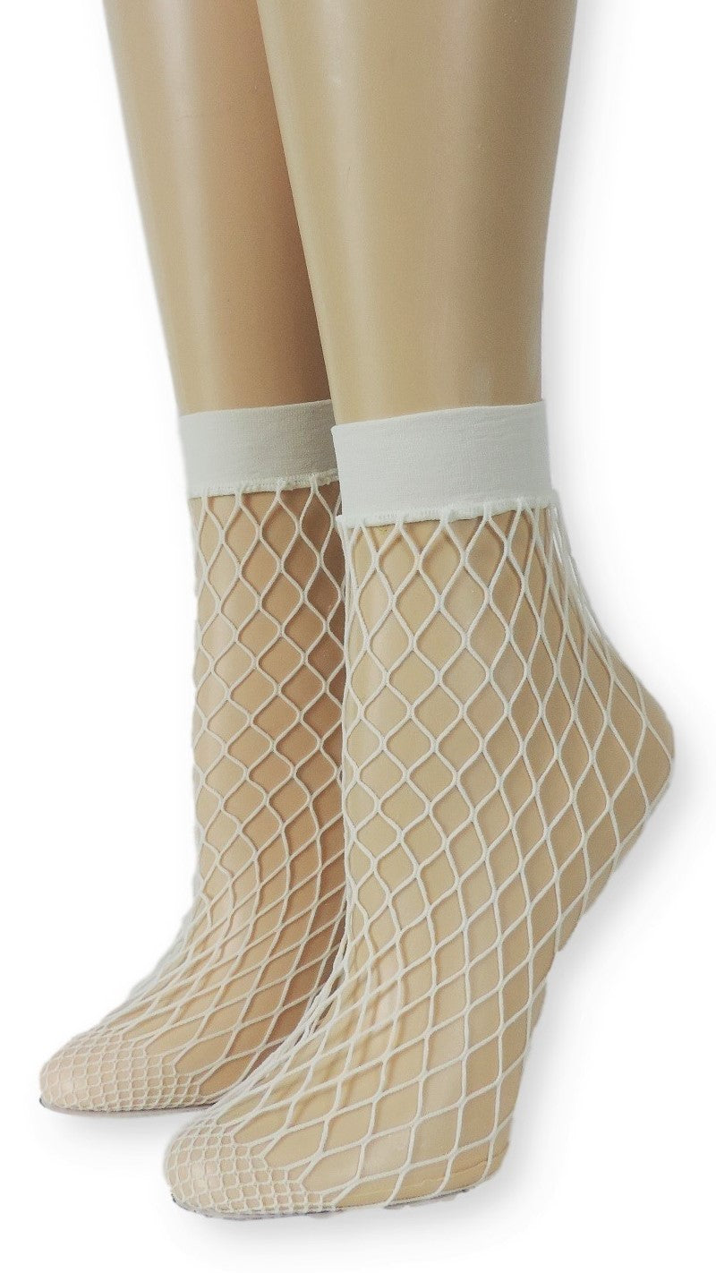 Airy White Fishnet Socks - Global Trendz Fashion®