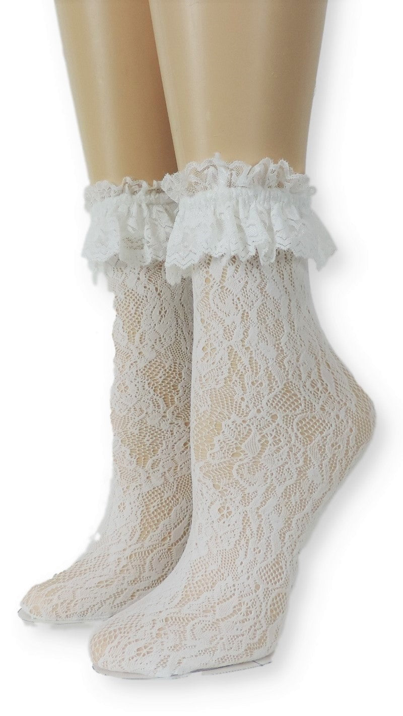 Royal White Lace Socks - Global Trendz Fashion®