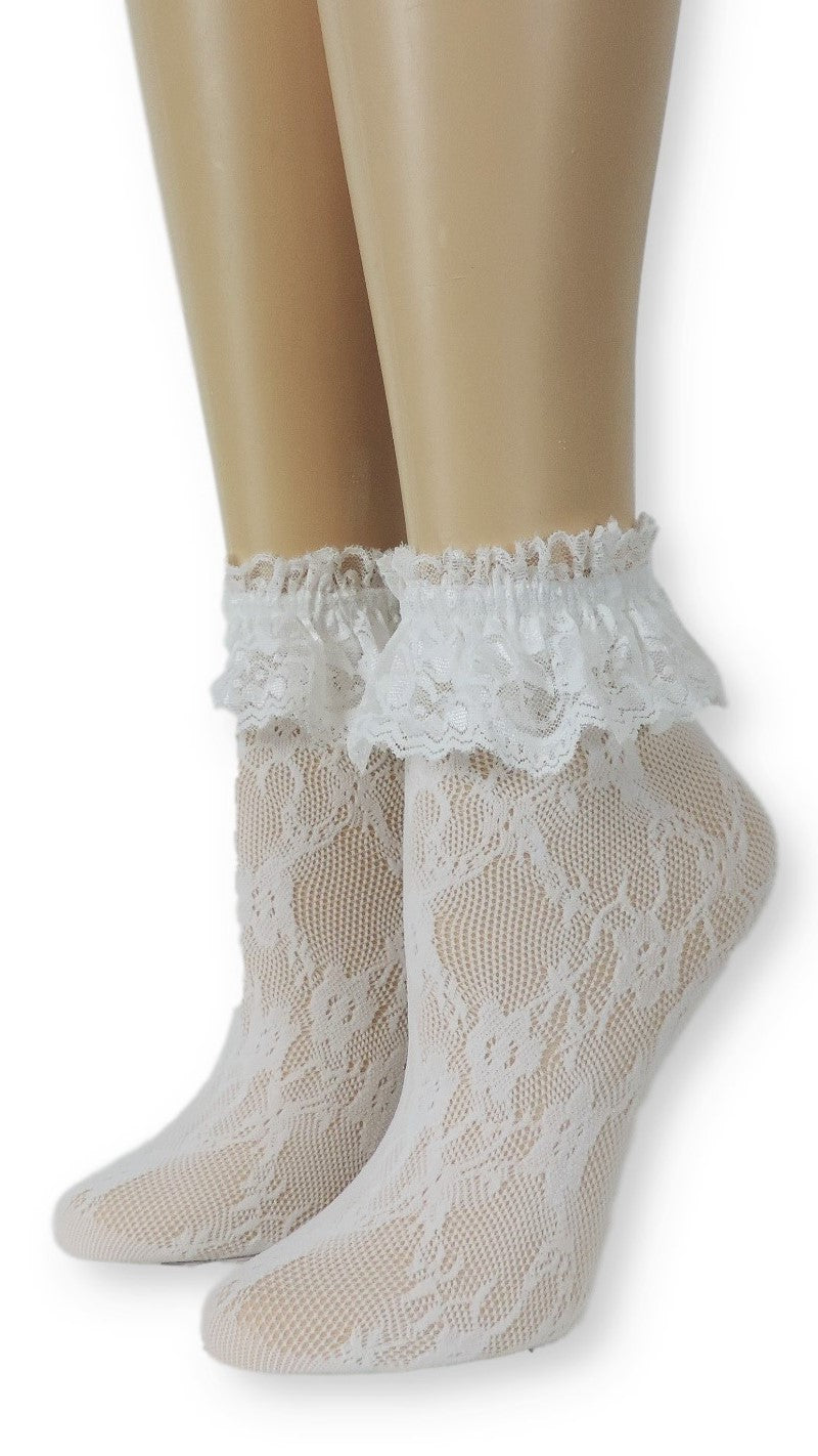 Imperial White Lace Socks