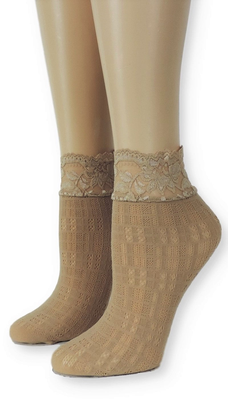 Brown Sugar Mesh Socks - Global Trendz Fashion®