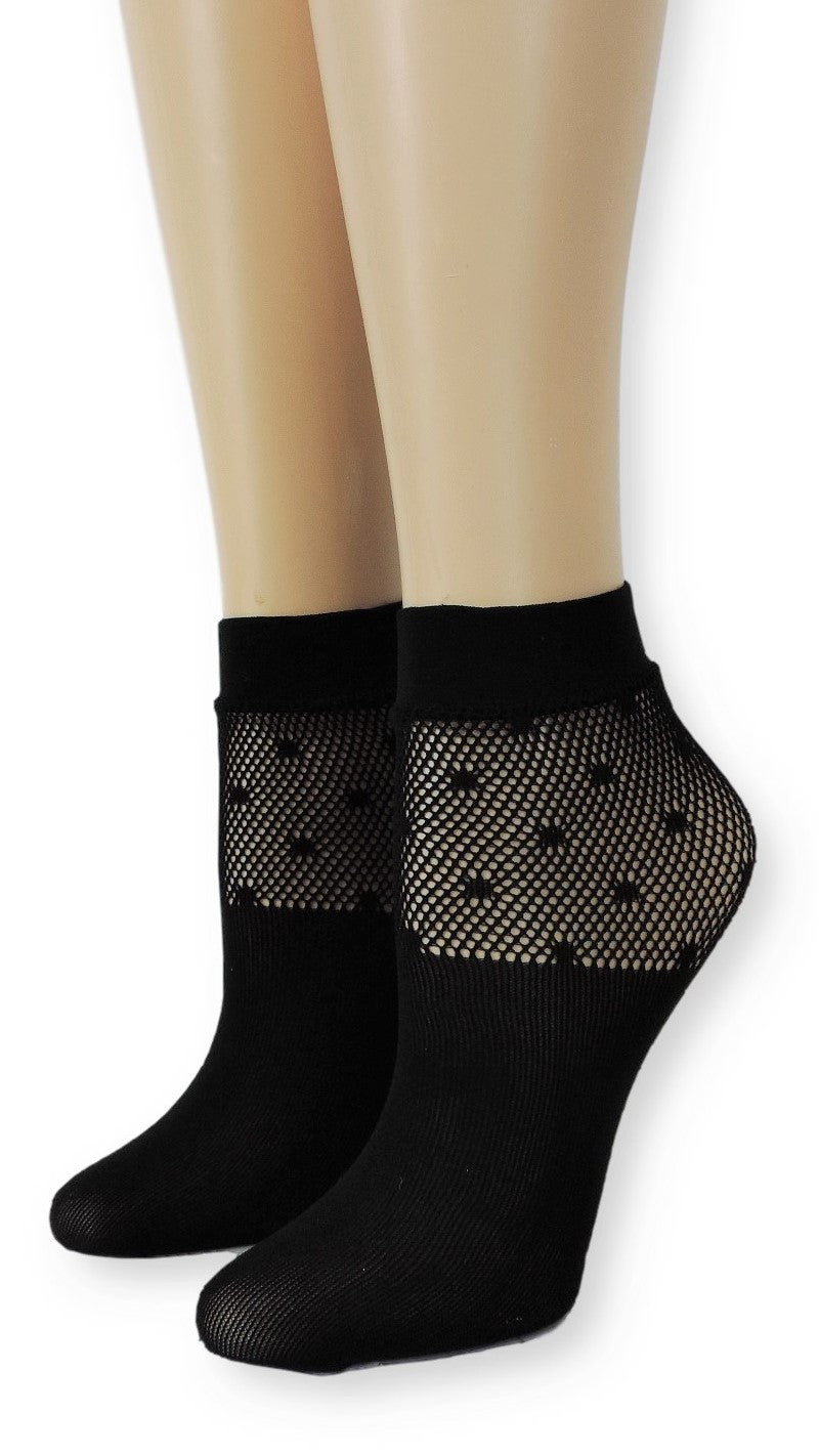 Black Classy Mesh Socks - Global Trendz Fashion®