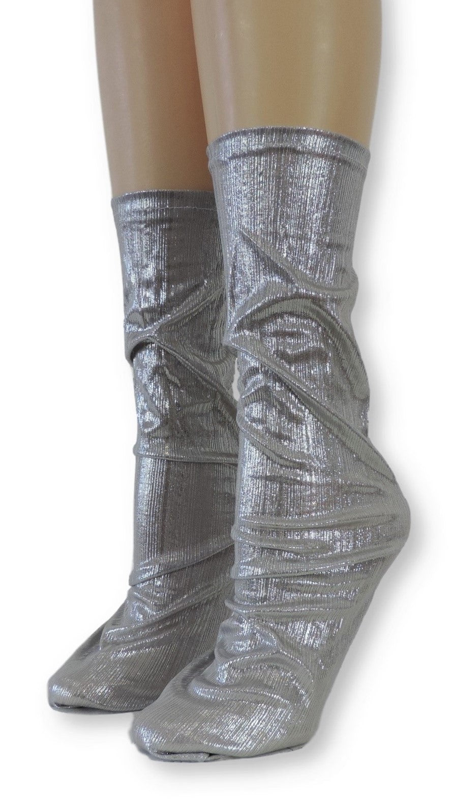 Silver Reflective Socks