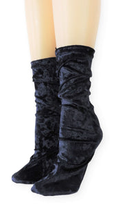 Violet Crushed Velvet Socks - Global Trendz Fashion®
