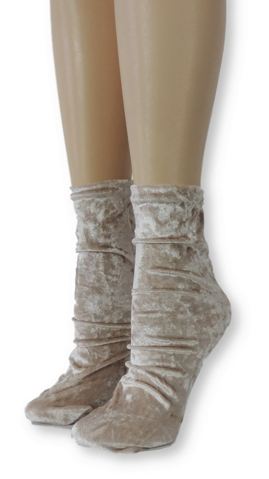 Oak Crushed Velvet Socks - Global Trendz Fashion®