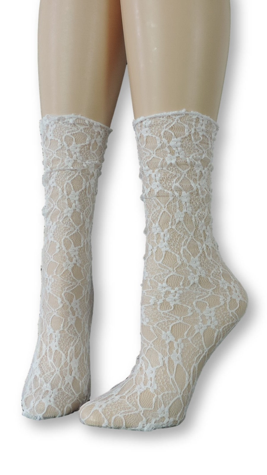 Snow Flake Mesh Socks