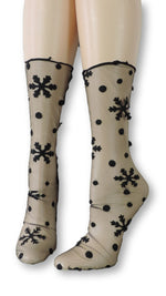 Snowflake Tulle Socks - Global Trendz Fashion®