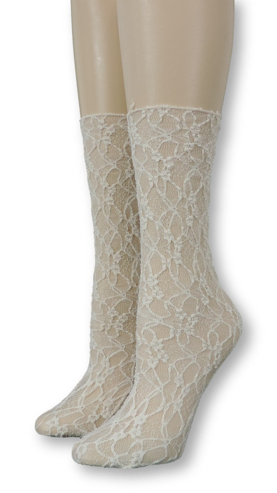 Cream Mesh Socks - Global Trendz Fashion®