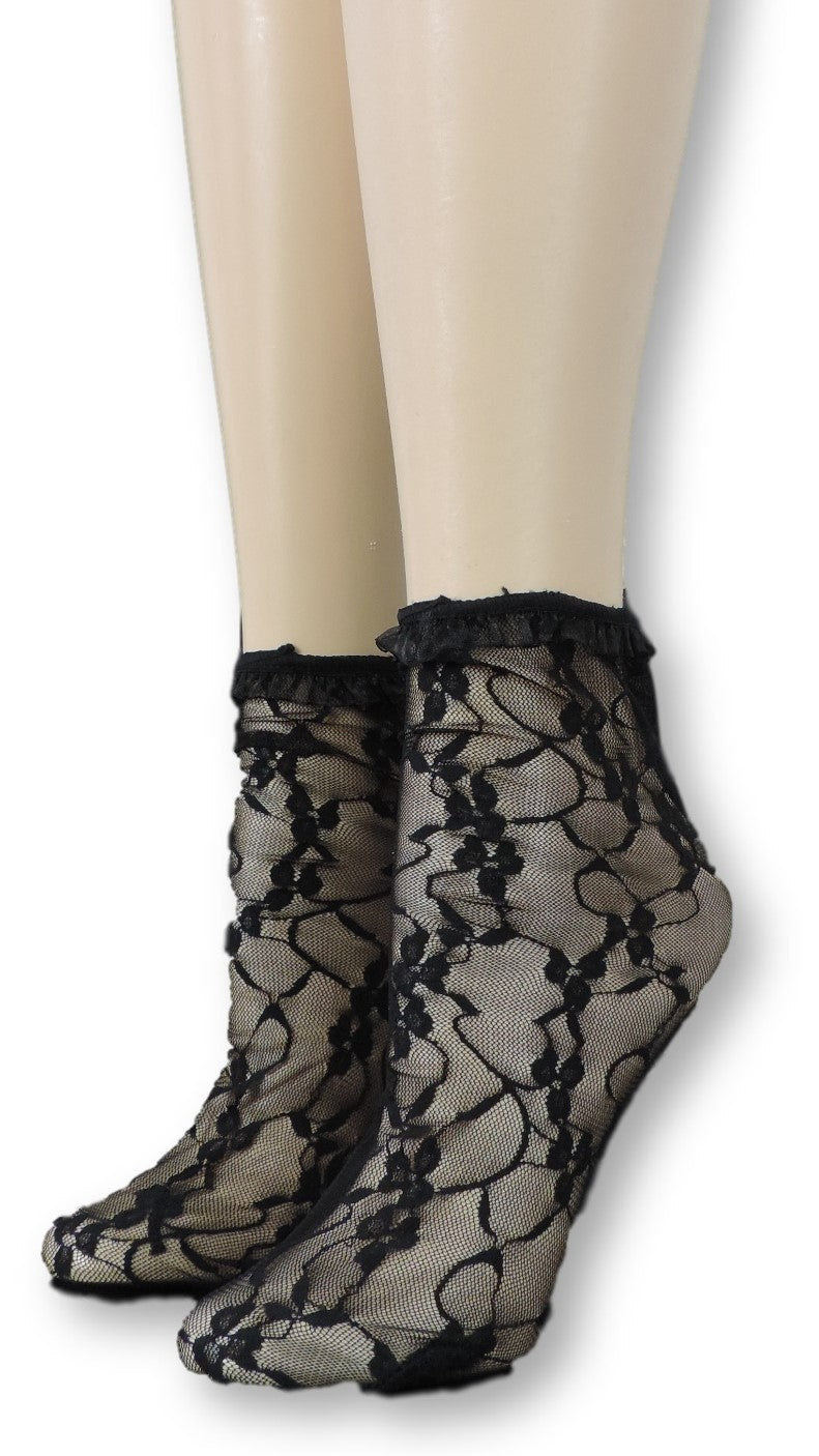 Grease Mesh Socks with frill - Global Trendz Fashion®