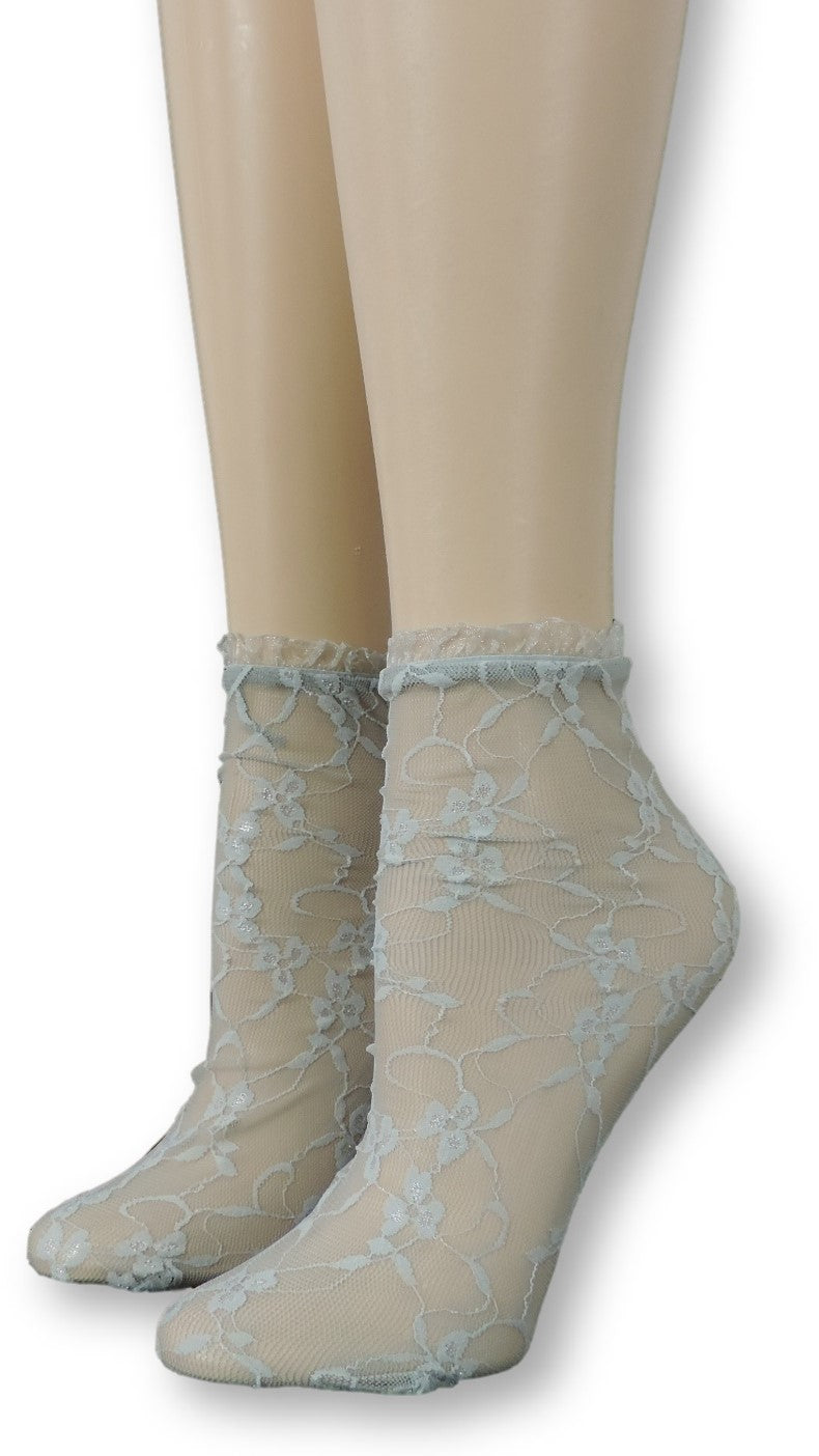 Silver Charm Mesh Socks with frill - Global Trendz Fashion®
