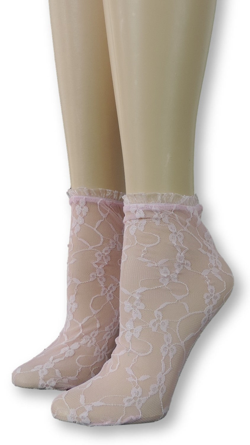 Rose Pink Mesh Socks with frill - Global Trendz Fashion®