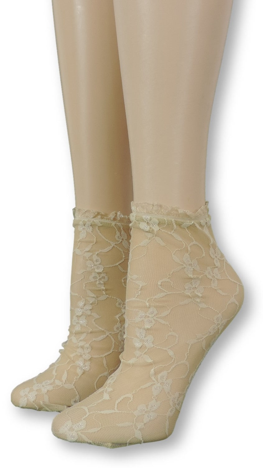 Light Oak Mesh Socks with frill - Global Trendz Fashion®