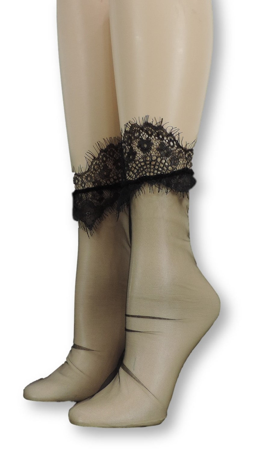 Black Net Tulle Socks - Global Trendz Fashion®