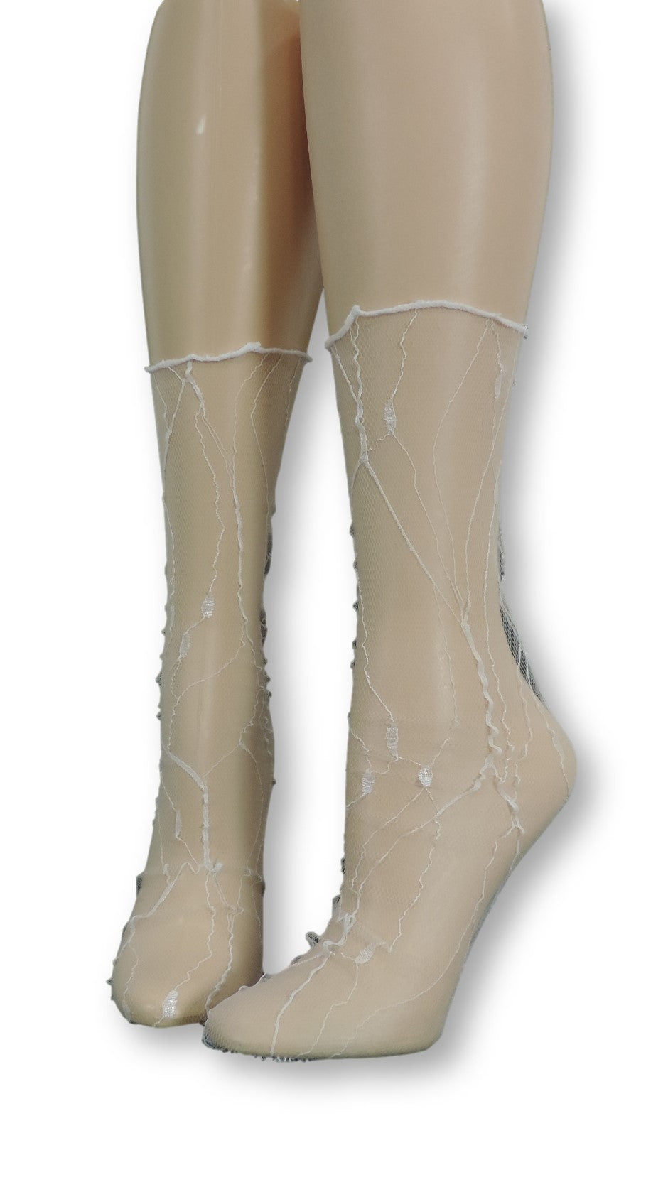 White Quartz Tulle Socks - Global Trendz Fashion®