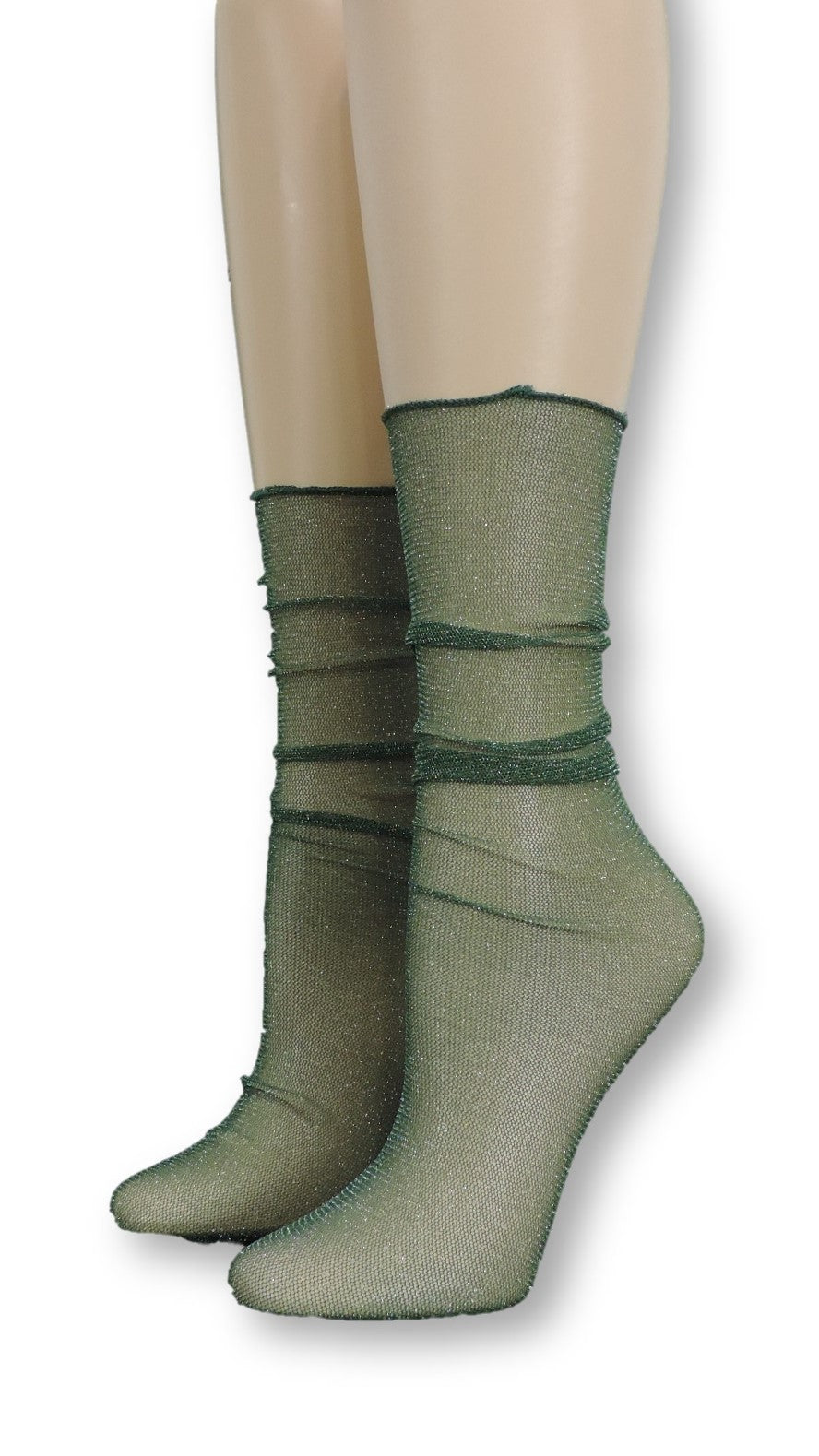 Nature Green Tulle Socks - Global Trendz Fashion®