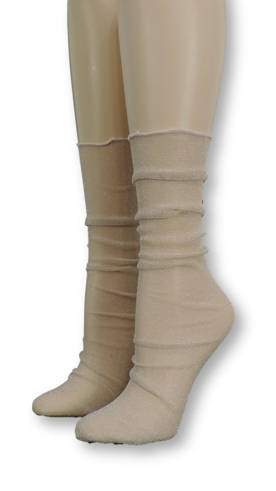 Cream Tulle Socks - Global Trendz Fashion®