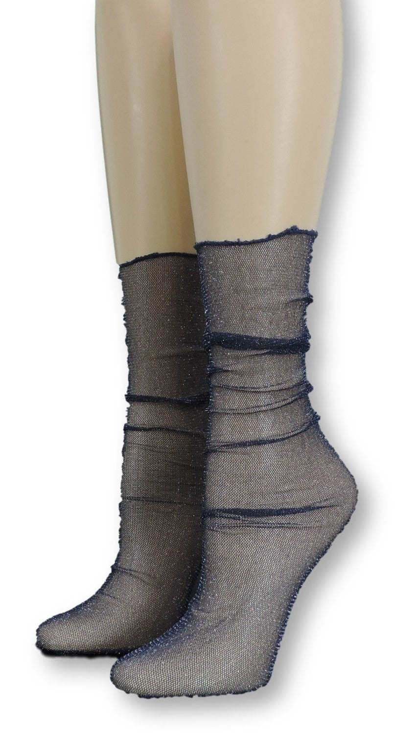 Navy Tulle Socks - Global Trendz Fashion®