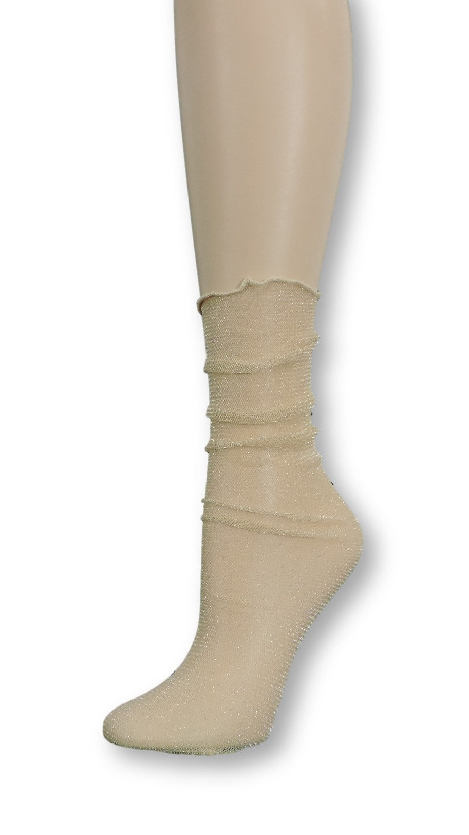 Rich Gold Tulle Socks - Global Trendz Fashion®
