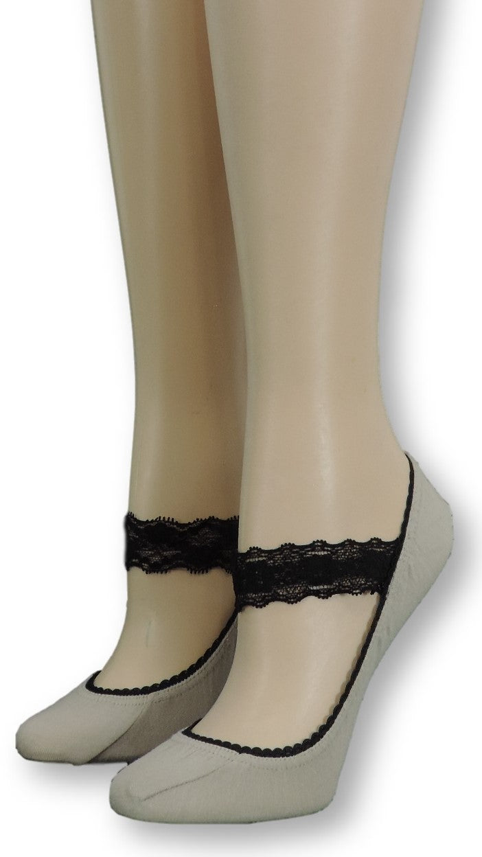 Trout Ankle Socks with black lace - Global Trendz Fashion®