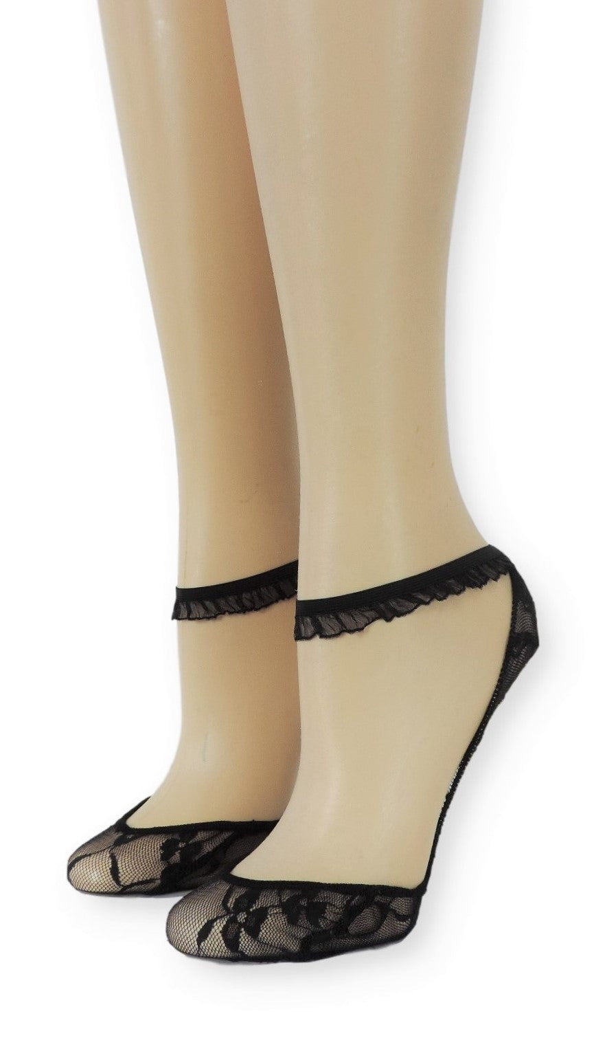Ankle Mesh Socks with Frill strap - Global Trendz Fashion®